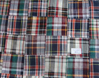 2015 Latest Madras Check Cotton Patchwork Fabric