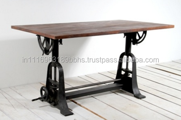 Industrial draftsman crank mechanism work table
