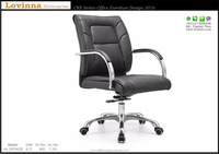 Modern Leather Office Chair with Arm Model Hs CKF042B ,Newest Design Modern Metal Frame Office Office Leather Chair 2016,