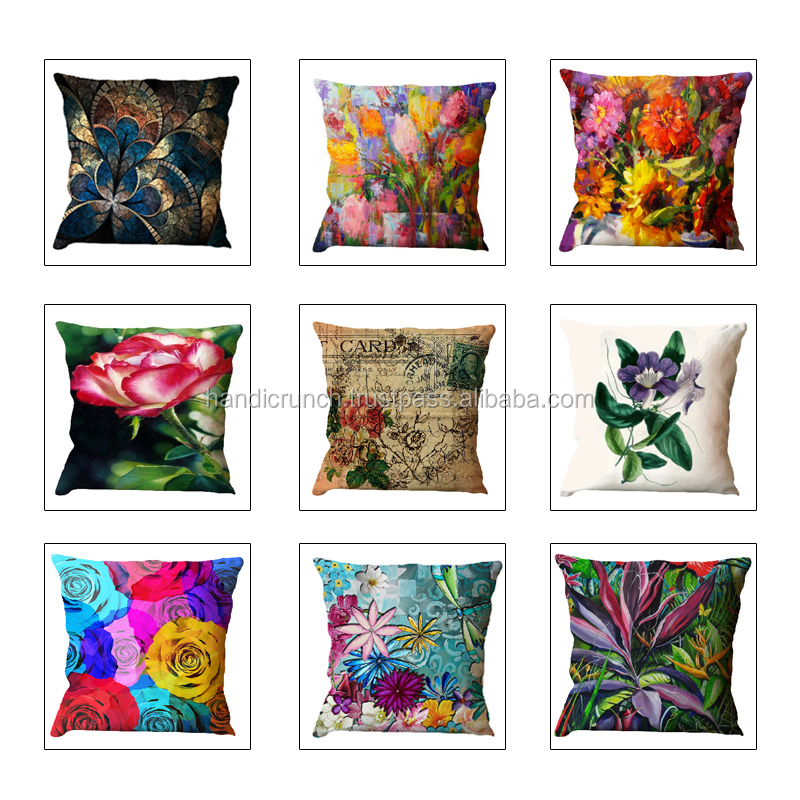 Flower cushion cover digital printing bedroom deocr pillow cover