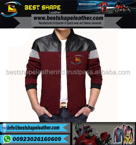 Men Bomber Leather Fashion Jacket leather bomber winter jacket