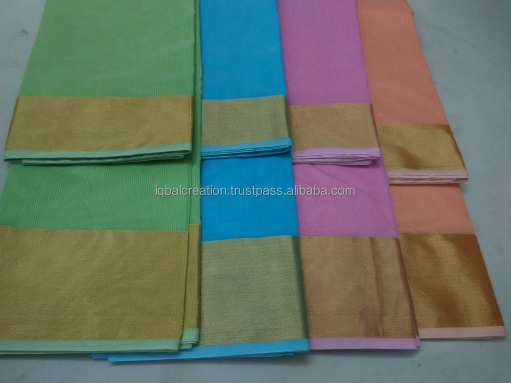 Plain saree with border