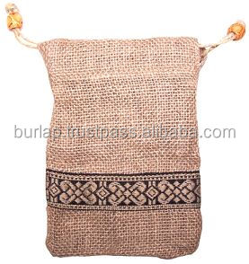 brown bag in a jute pouch