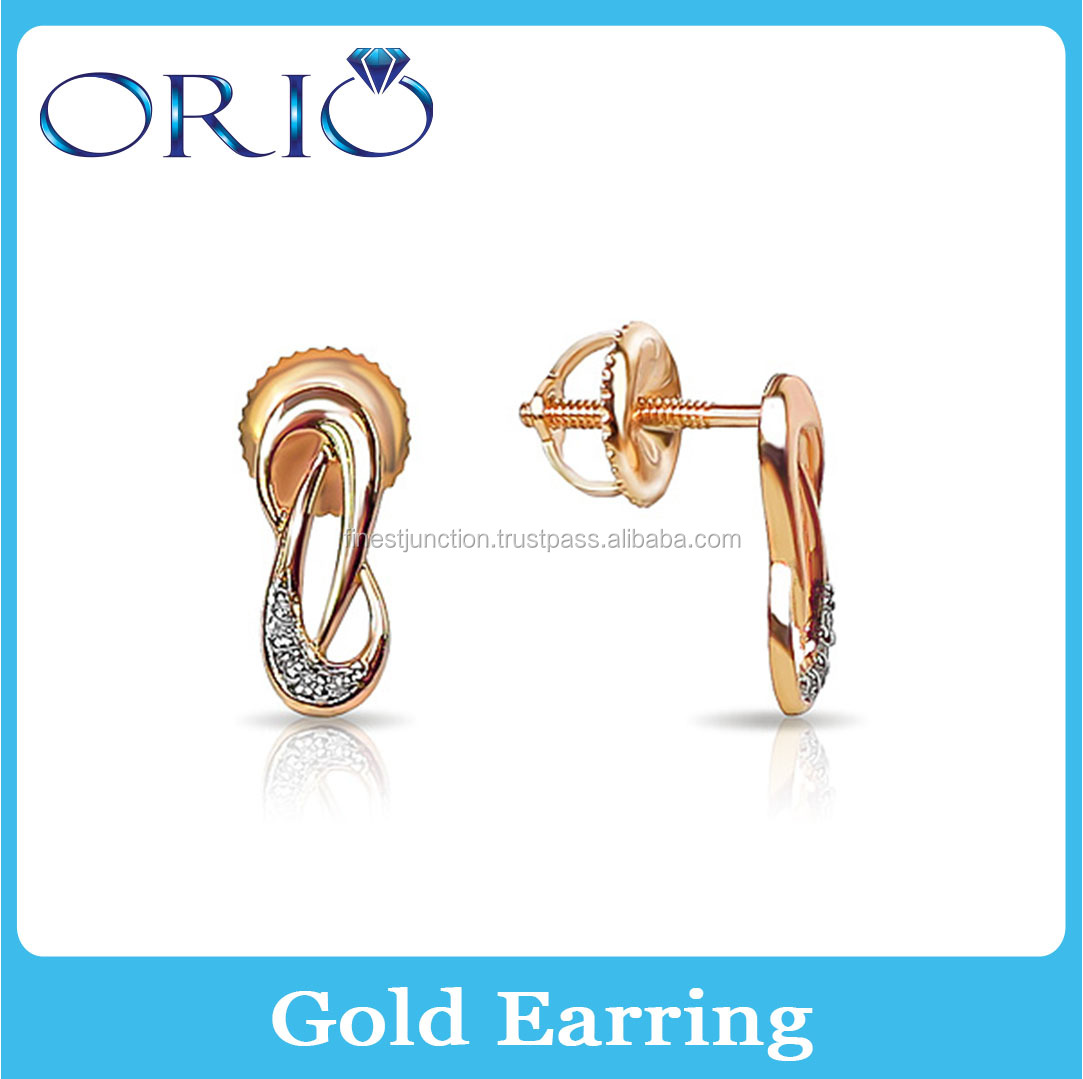 Gold Errings 14k Children Simple Design Classic Small Gold Earring Jewelry High Quality Gold Gift For Women