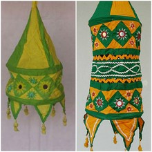 Indian Fabric Lamp Shades Cotton Festival Lamp Covers