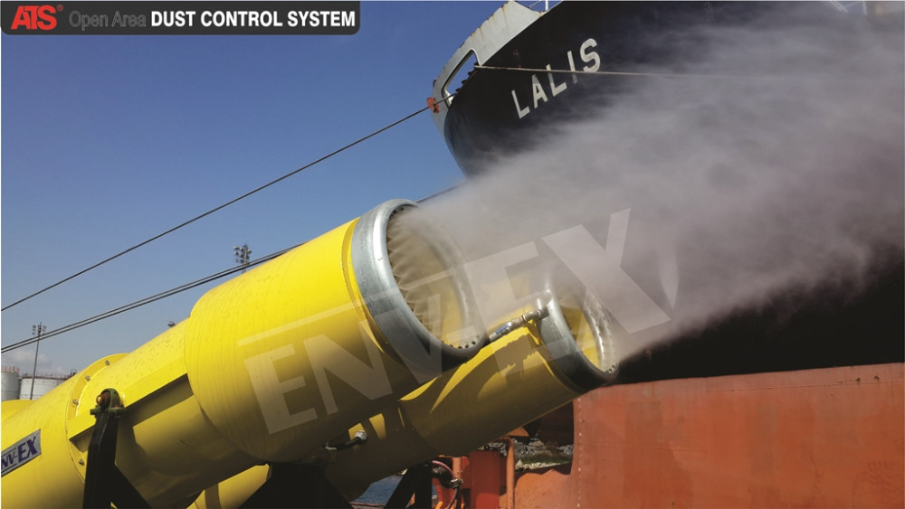 Open Area Dust Suppression System,Lake Water treatment application,fog cannon for Dust control coal mine