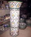 Moroccan hand-painted vase