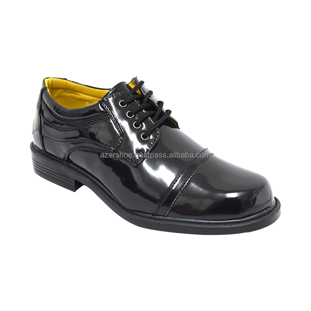 FASHION & STYLE MEN'S SYNTHETIC LEATHER SHOES ONLINE SALE (MS 8120 BK) BLACK