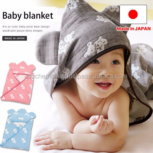 High quality soft baby apparel made from cotton gauze made in Japan