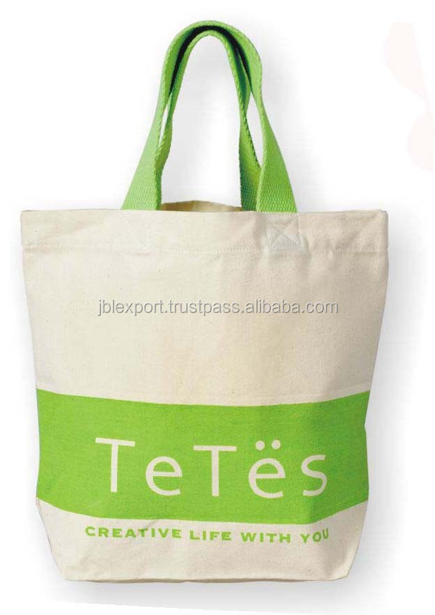 Design foldable / promotional/ reusable shopping oem cotton bag