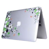 Clear Patterned Hard Case Cover for Apple MacBook Air 13.3 Inch - Beautiful Flower