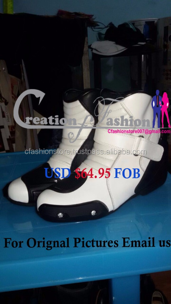 Leather motorbike racing shoes USD $64.95 FOB Boot