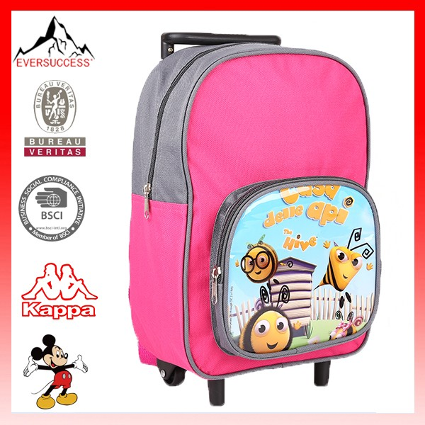 2015 New Product Medium Kids School Trolley Bag with Wheels