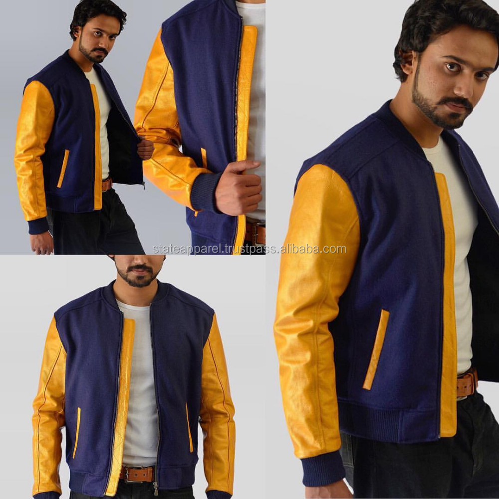 Blank Brand STATE APPAREL Bomber Jacket For Men, Winter Fashion Wear Bomber Jacket 2016
