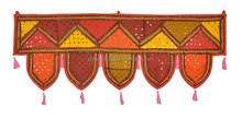 Traditional Chevron Barmeri Work Cotton Indian Door Hanging Toran