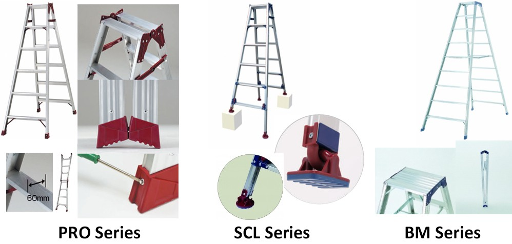PiCa Multi-function / Multi-use Ladders & Stepladders with excellent durability. Made in Japan (car washing ladder)