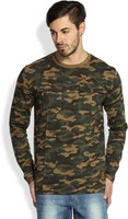 Camouflage Printed Long Sleeve Tshirts