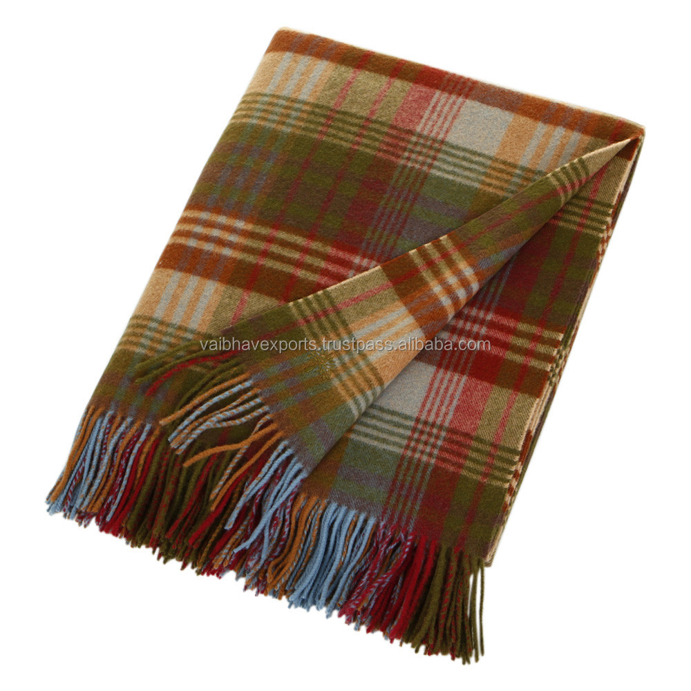 Plaid Wool Blankets made from Pure Wool for every age group