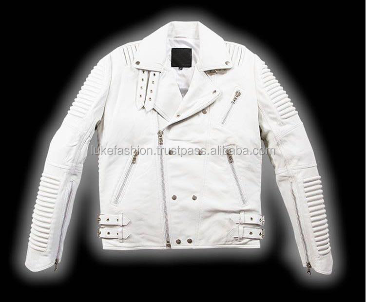 2017 soft lambskin best fit 3d quilting chopper motorcycle jacket