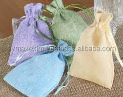 Wholesale Screen Printed Logo NaturalJute Drawstring Burlap Bags