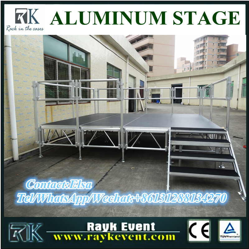 Singapore portable aluminum event stage outdoor concert event stage equipment for sale