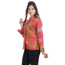 Indian tropical printed designer cotton womens jacket