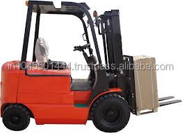 battery powered forklift with paper roll clamp