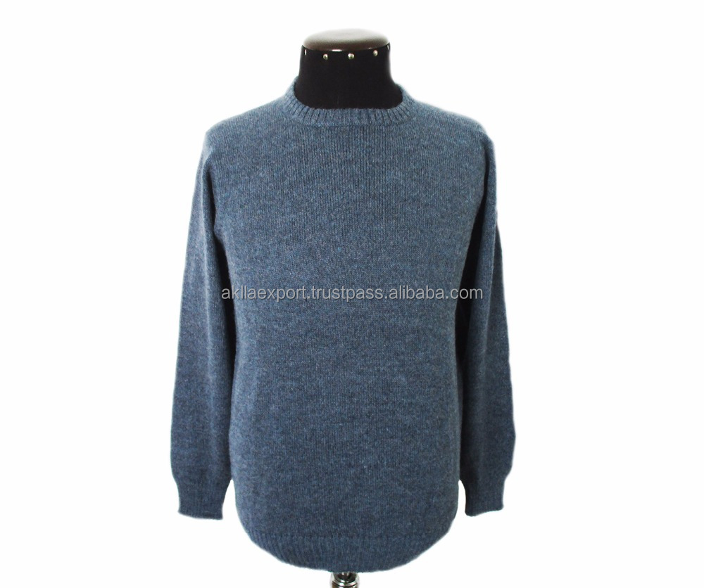 Alpaca Sweater of Sky Blue Color