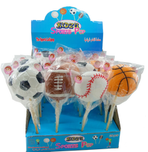 Lollipop sweet and giant sport ball shape
