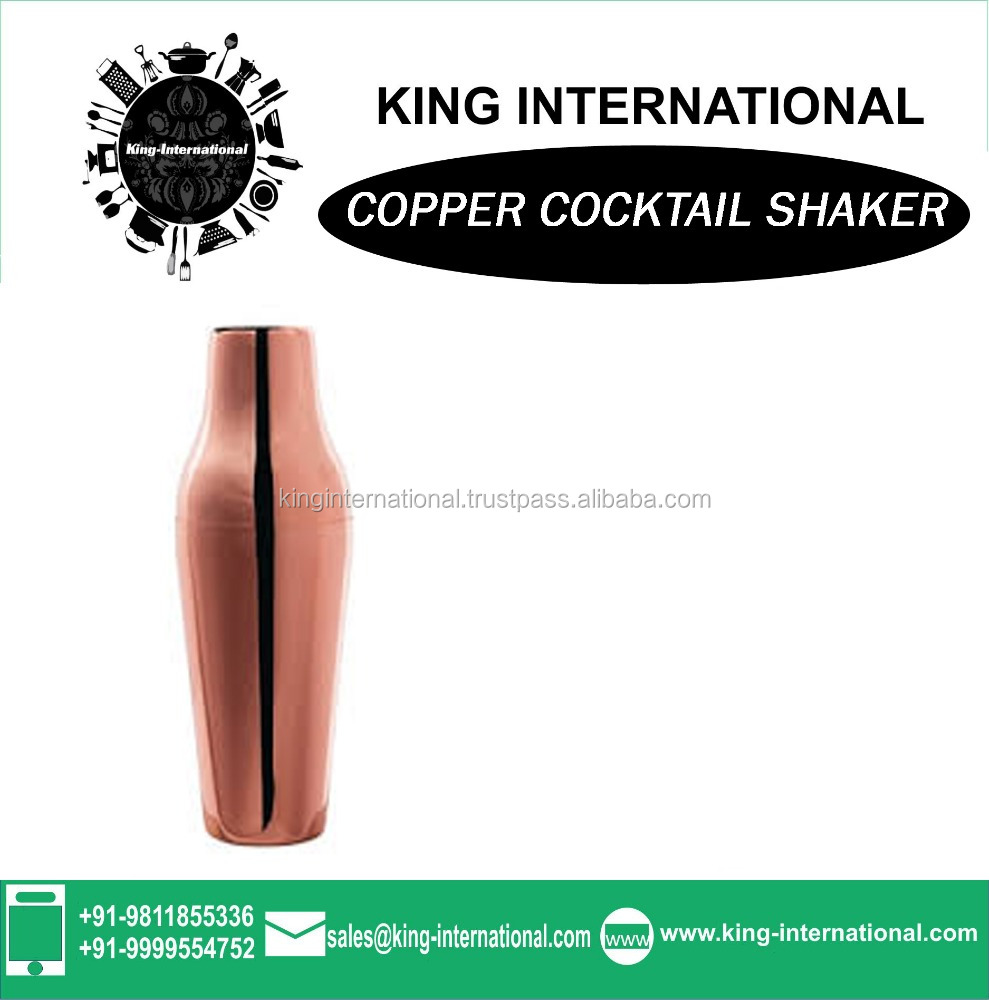 copper 2016 cheap price stainless steel custom cocktail shaker