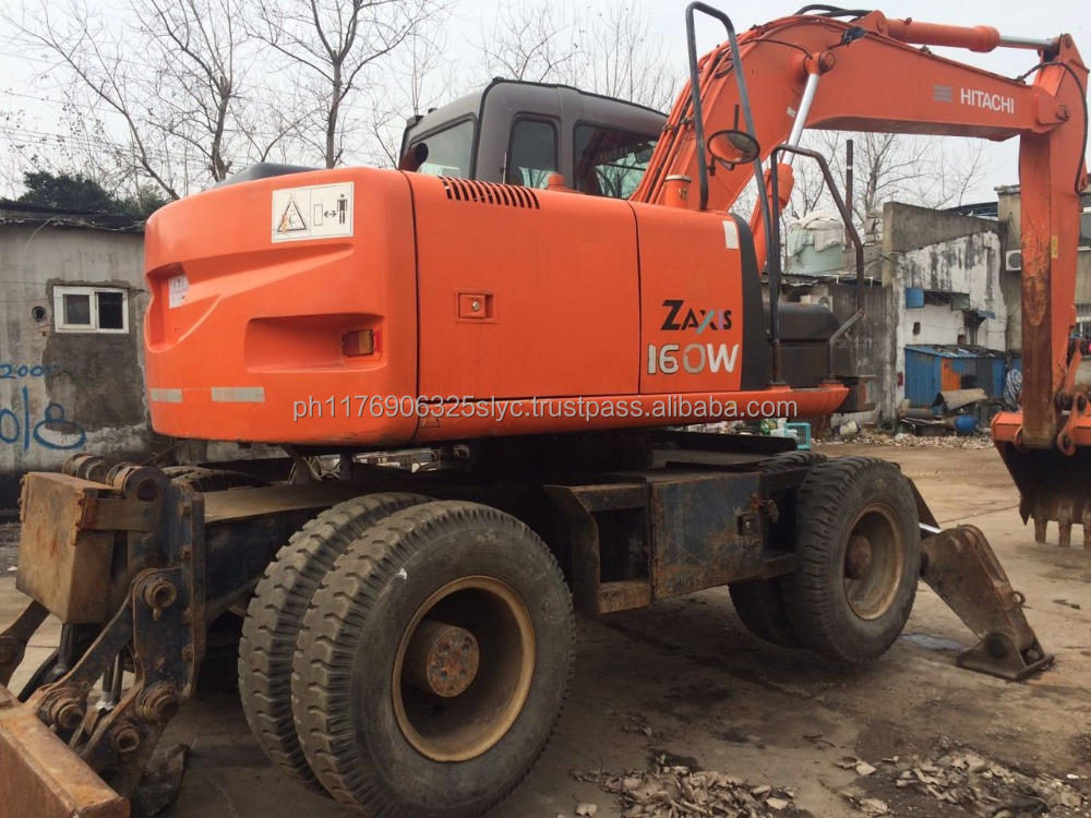 Used Hitachi excavator ZX160 with air conditioner