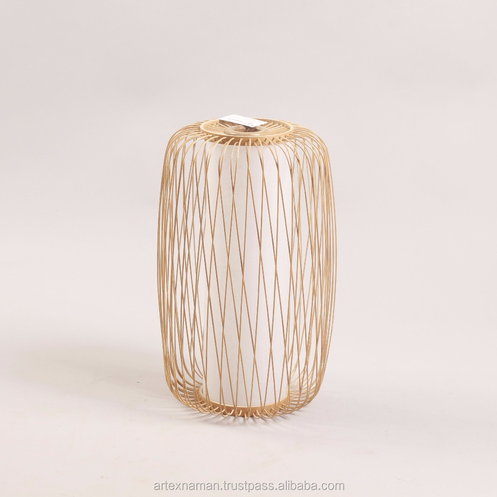 Decorative natural bamboo Hanging standing lantern, candle holder made in Vietnam