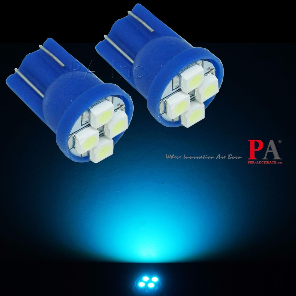 Car Dashboard Dome Light Indicator Interior Lamp Bulb for Pinball Game Machine T10 Ice Blue PA