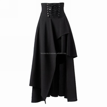2016 Gothic Chicstar Gothic Corset Gorgeous Long Dark Mermaid Fishtail Goth Skirt FASHION FC-5906