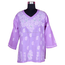 Brand New Chicken Kurti Cotton Chicken Kurti Lakhnav Fine Chicken Embroidery Designs Wholesale Kurti