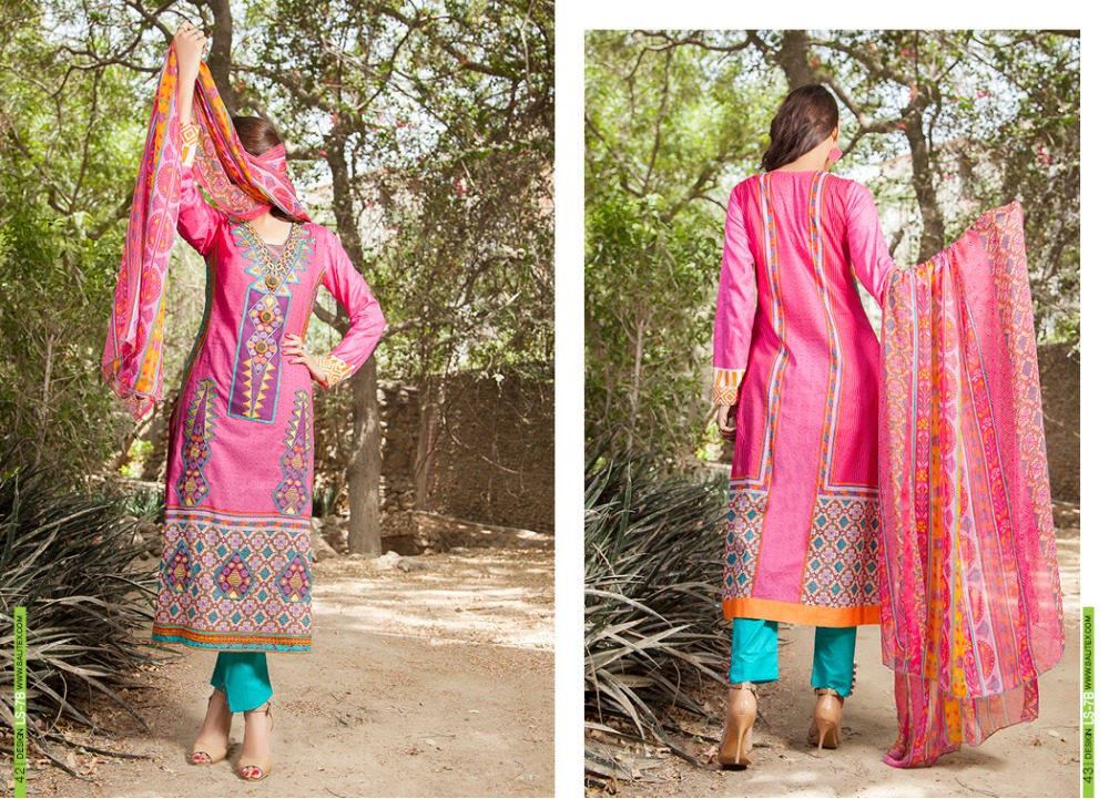 Designer Lawn Ladies 3-pieces suits