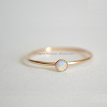 Solid 14k Yellow Gold Gemstone Opal Ring