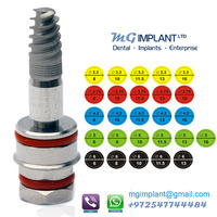 Lot of 100 MDI dental implant + 100 Straight abutments Spiral tyoe internal hexagon system EMS free ONLY 2200$