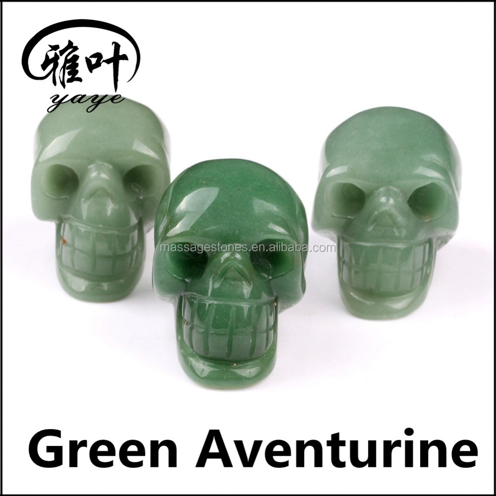 Semi-precious Stone/Gemstones Blood Stone Skulls