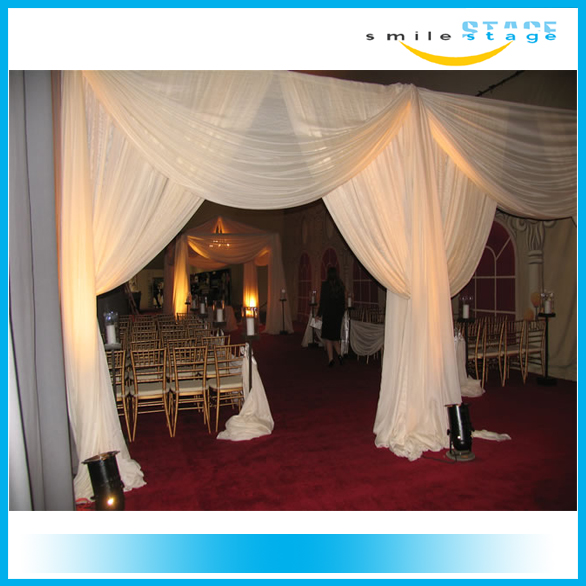 portable photo booth pipe and drape display