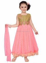 Wholesale loverly kid wear summer net frock design for baby girls dresses 7-10 year