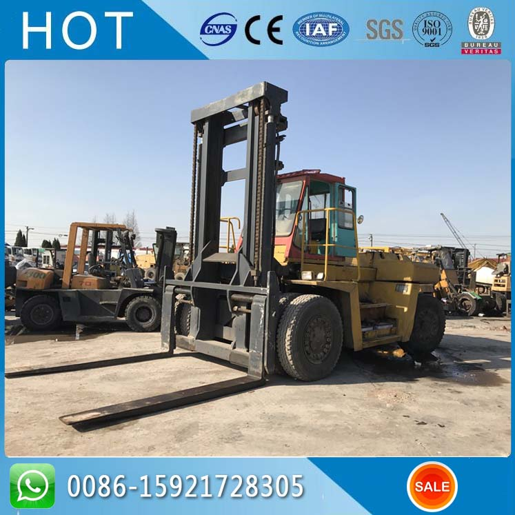 Forklift Located in Shanghai Yard , 25 Ton Used Mitubishi Forklift For Sale