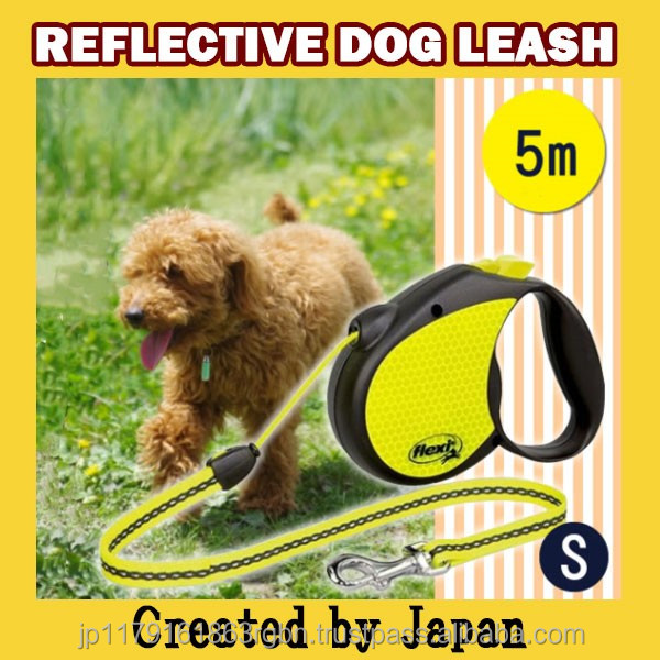 Compact and Cost-effective retractable dog leash for safety dog running , training created by Japan