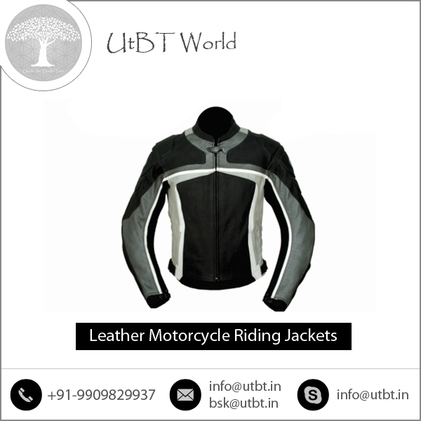 CE Approved Leather Motorcycle Riding Armour Jackets