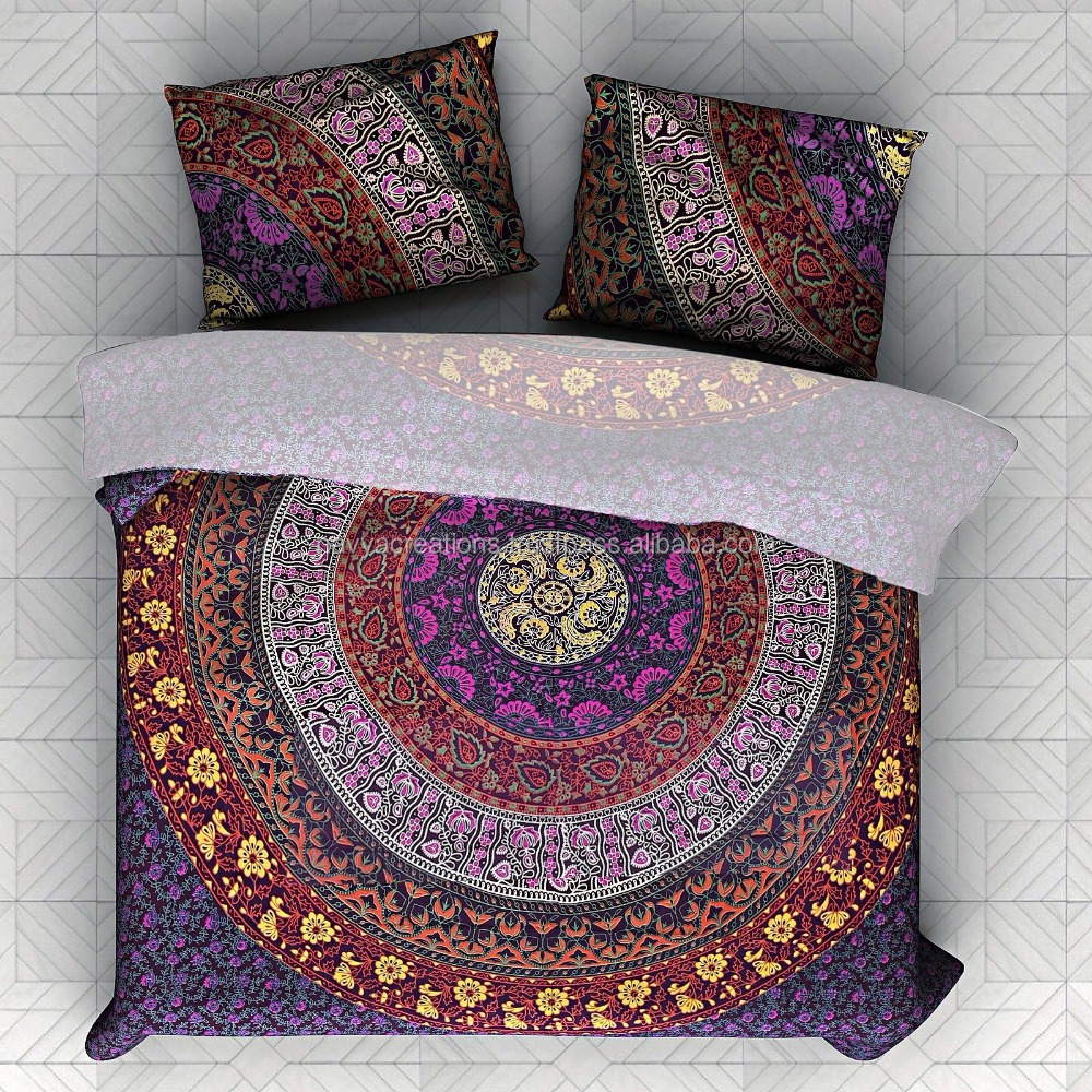 Indian Six Color Duvet Covers Wholesale Mandala Duvet Covers With Matching Pillows Queen Size