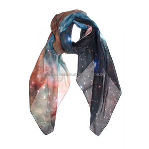 100% polyester butterfly printed cheap scarf for lady Scarves scarf