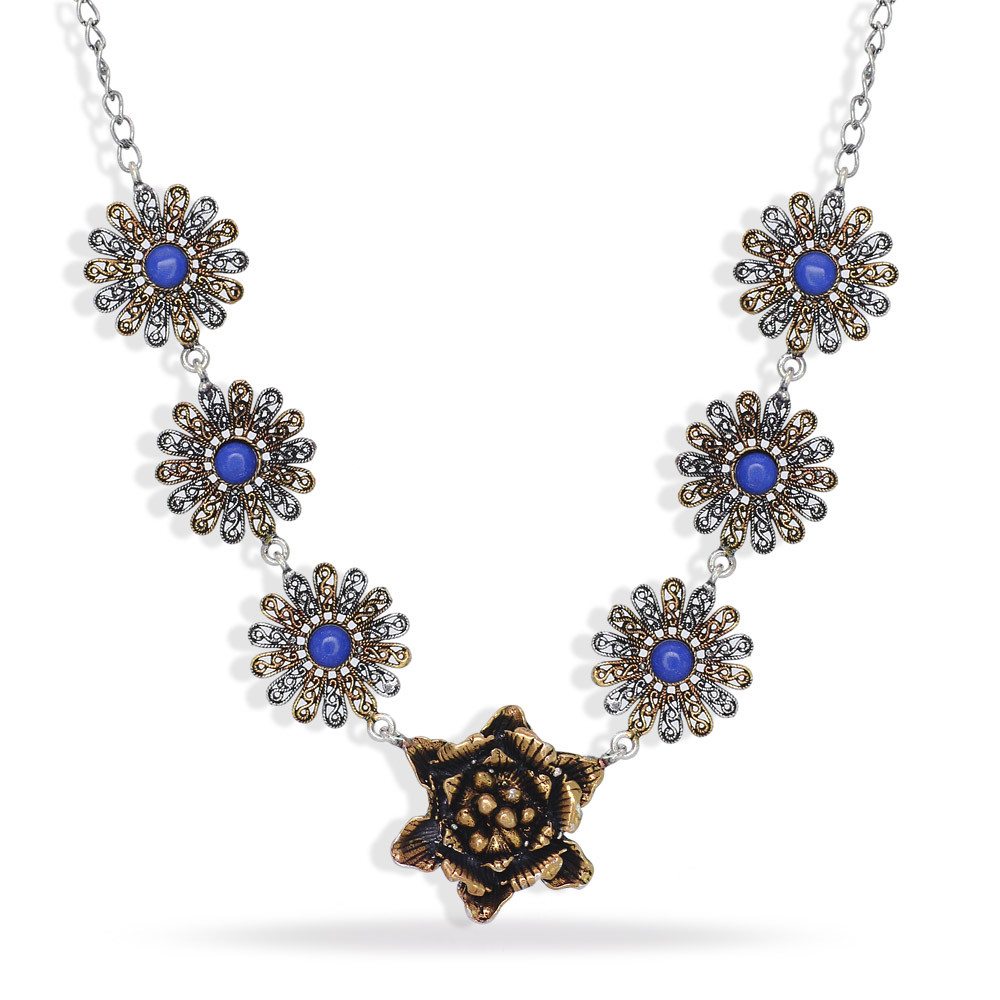 Jaipur Mart Necklace Wholesale Oxidised Silver & Gold Plated Jewelry Indian Traditional Design Necklace for Fashion Girls & Wome