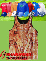 100% Custom Sublimation Printed Tanktop for fitness