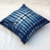 Tie Dyed Handmade Shibori Printed Cotton Ethnic Indian Blue Cushion Cover