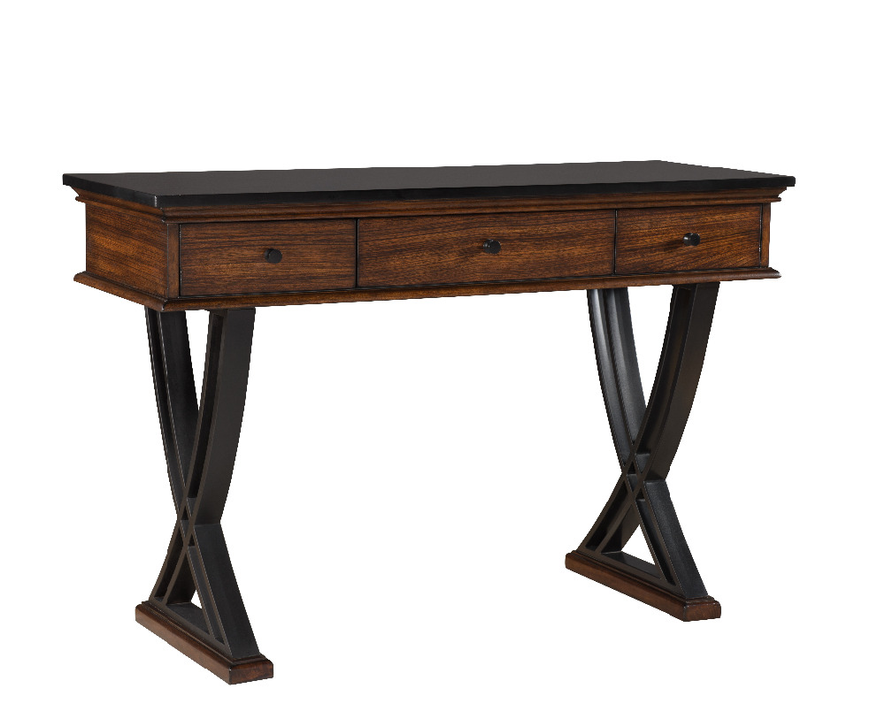 RUSTIC CHARM STYLING CONSOLE TABLE WITH 3 DRAWER